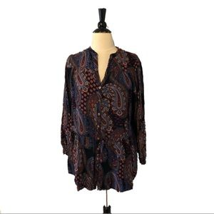 Soft Surroundings Colorful Paisley Peplum Tunic